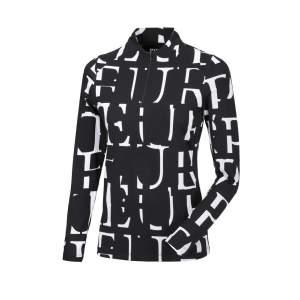 Shirt Damen Marla HW21 in black n´white, All Over Print