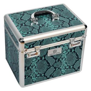 Putzbox Shiny mit Schlangenmuster in emerald green