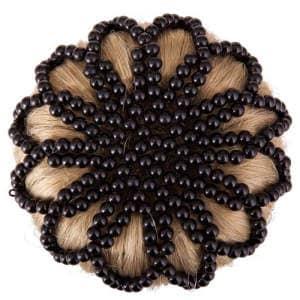 Haarknotennetz Pearl in schwarz