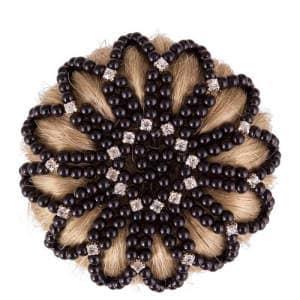 Haarknotennetz Pearl Diamond in schwarz