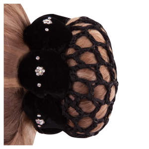 Haarband Lotus in schwarz