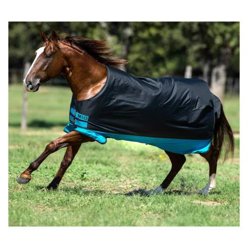Horseware - Outdoordecke Mio Medium 200g in Black/Turq