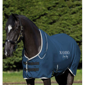 Abschwitzdecke Rambo Dry Rug Supreme in navy/silber