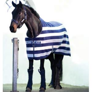 Abschwitzdecke Rambo Deluxe Fleece in navy/beige