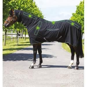 Massagedecke Sportzvibe Horse Rug in schwarz/grün