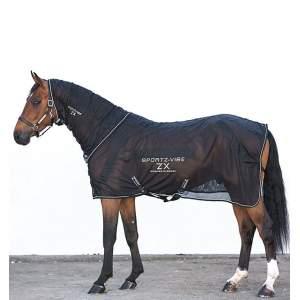 Sportz-vibe ZX Massagedecke für Pferde in schwarz/weiß
