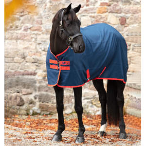 Stalldecke Mio Stable Sheet in Navy/Red