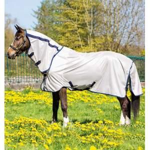 Fliegendecke Mio Pony Fly Rug in bronze/navy