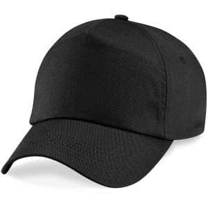 5-Panel Cap in Black
