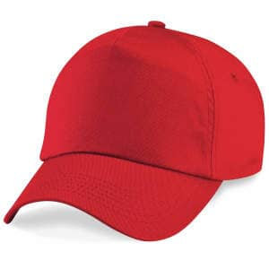 5-Panel Cap in Bright Red