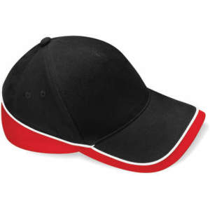 Mehrfarbige Team Cap in Black/Classic Red/White