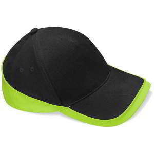 Mehrfarbige Team Cap in Black/Lime Green
