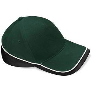 Mehrfarbige Team Cap in Bottle Green/Black/White