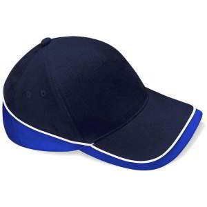 Mehrfarbige Team Cap in French Navy/Bright Royal/White