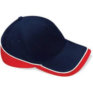 Mehrfarbige Team Cap in French Navy/Classic Red/White