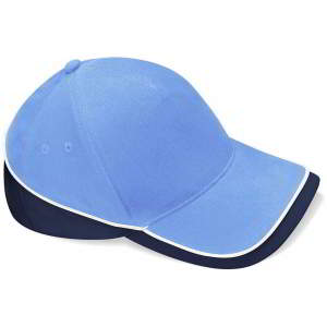 Mehrfarbige Team Cap in Sky Blue/French Navy/White