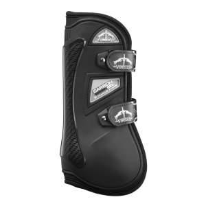 Gamasche Carbon Gel Velcro Front in schwarz