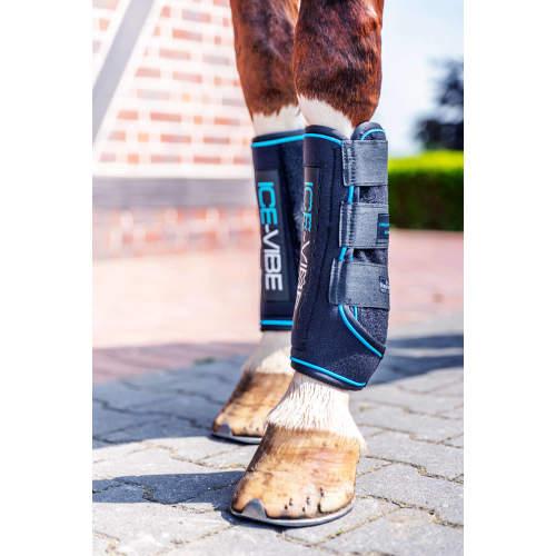 Horseware - Kühlgamaschen Ice-Vibe Boot in Black/Aqua