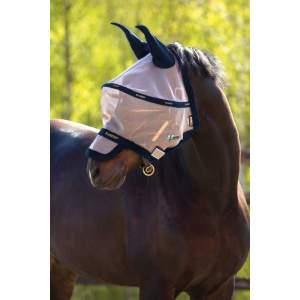 Fliegenmaske Plus Vamoose in Oatmeal/Navy, White & Beige