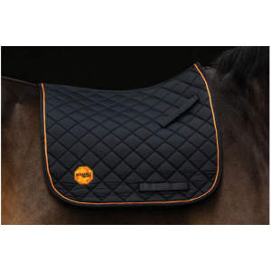 Rambo Ionic Dressur Schabracke in schwarz/orange