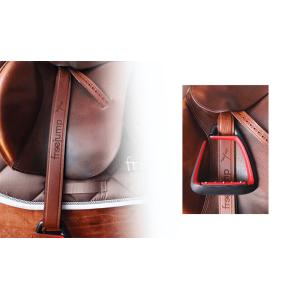 Steigbügelriemen Classic Wide Leather in braun