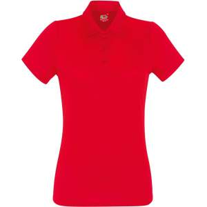 Damen Performance Polo Lady-Fit in Red