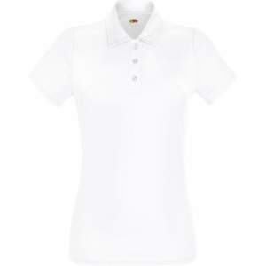 Damen Performance Polo Lady-Fit in White