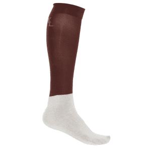 Turnierstrümpfe Classic Show Socks, 3er-Pack in Braun/Grau