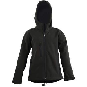 Kinder Hooded Softshell Jacke Replay in Black