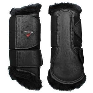 Gamaschen Brushing Fleece in schwarz/schwarz