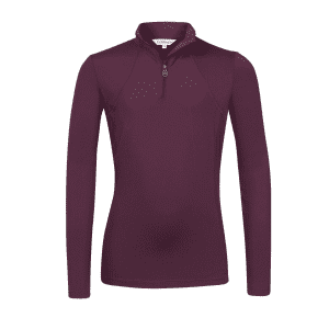 Funktionsshirt Kinder LMX Young Rider Base Layer in Grape