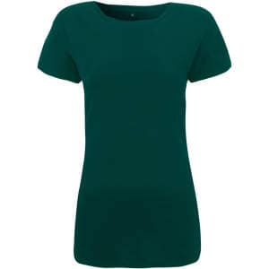 Damen Regular Fitted T-Shirt in Bottle Green