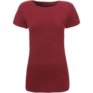 Damen Womens Regular Fitted T-Shirt in Burgundy