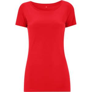 Damen Womens Regular Fitted T-Shirt in Red