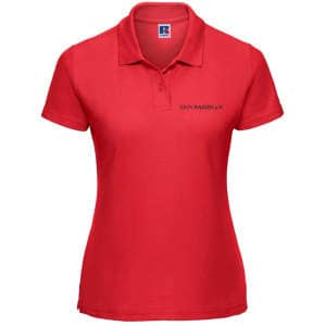 ZK ZRFV Kamen Damen Ladies` Poloshirt 65/35 in Classic Red