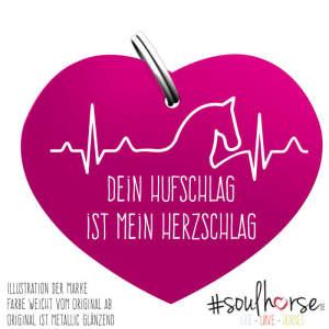 Herzschlag Pferdemarke in pink