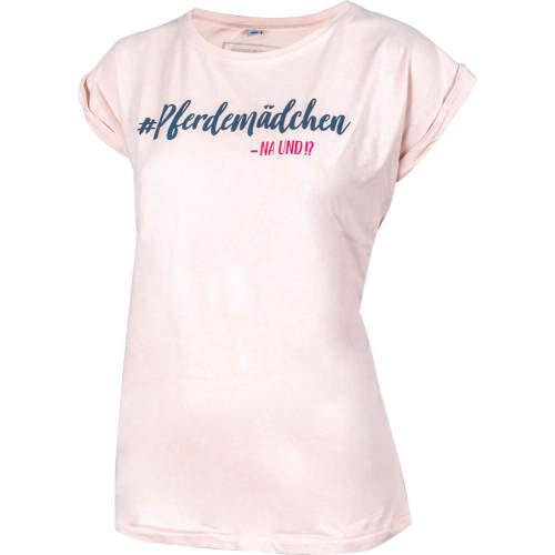 #soulhorse - Damen- T-Shirt Pferdemädchen -na und? in rosa