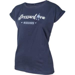 T-Shirt Dressurdiva von #Soulhorse in navy