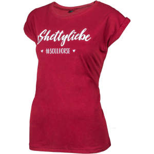 T-Shirt Shettyliebe von #Soulhorse in burgundy