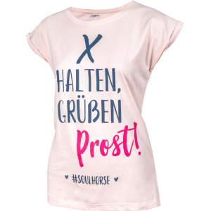 T-Shirt Prost von #Soulhorse in rose