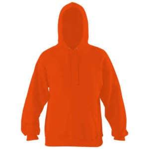 Herren Kapuzen Pullover in Orange