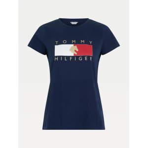 Rundhals T-Shirt Damen TH Equestrian Statement in Desert Sky