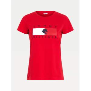 Rundhals T-Shirt Damen TH Equestrian Statement in Primary Red