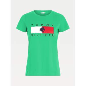 Rundhals T-Shirt Damen TH Equestrian Statement in Primary Green