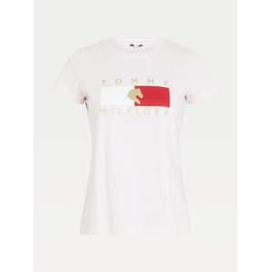Rundhals T-Shirt Damen TH Equestrian Statement in Light Pink
