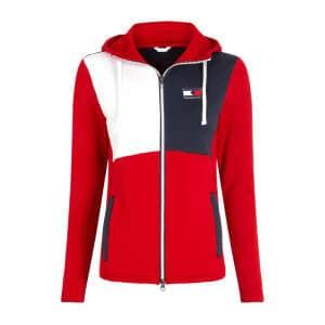 Trainingsjacke Damen Color Block in Primary Red