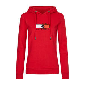 Hoodie Damen TH Equestrian Statement in Primary Red