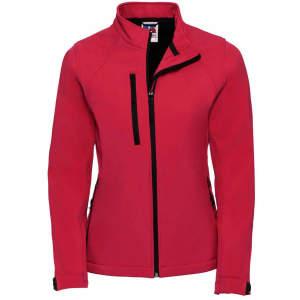 Damen Softshell Jacke in Classic Red