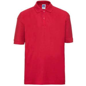 Kinder Poloshirt in Bright Red