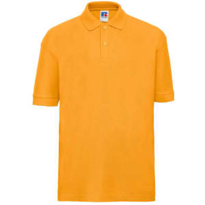 Kinder Poloshirt in Pure Gold
